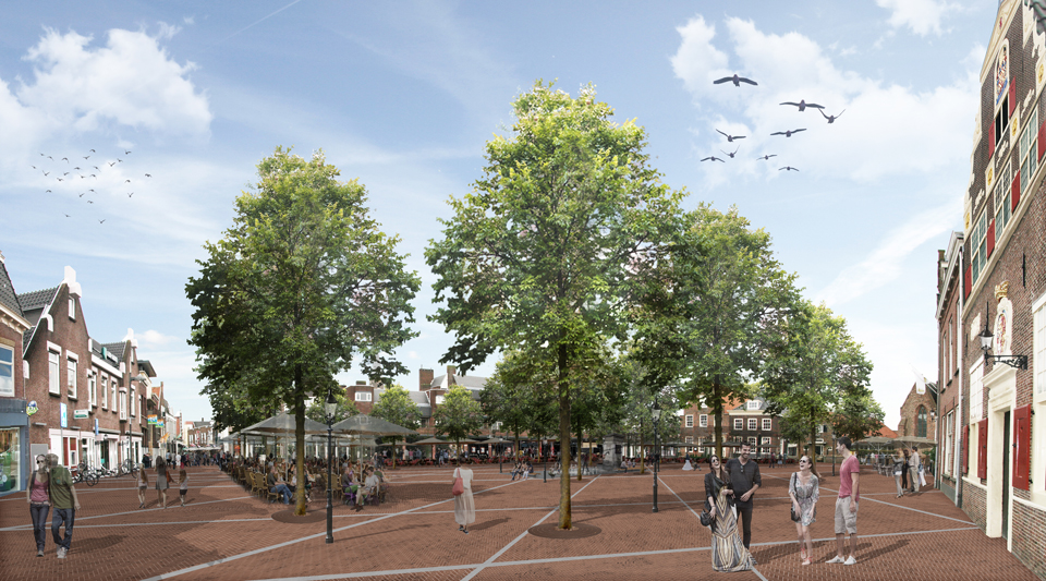 Naaldwijk Wilhelminaplein en Havenplein